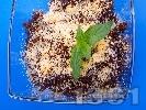 Рецепта Шоколадово ризото (мляко с ориз и шоколад) с готварска сметана, орехи, канела и течен подсладител (без захар)
